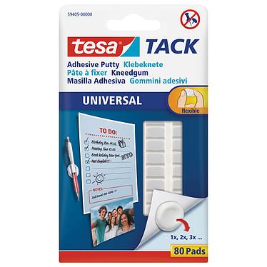 tesa TACK Universal 80 pastilles (pâte à fixer) Lot de 80 pastilles adhésives pâte à fixer