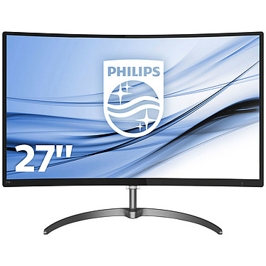 "Philips 27"" LED - 278E8QJAB 1920 x 1080 pixels - 4 ms (gris à gris) - Format large 16/9 - Dalle VA incurvée - FreeSync - DisplayPort - HDMI - Noir"