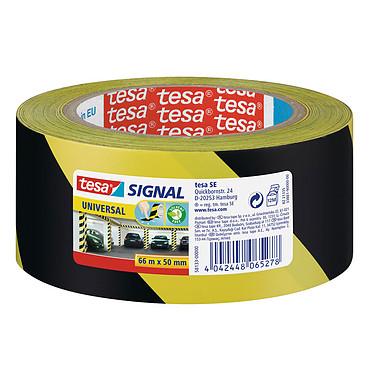 tesa Ruban adhésif de signalisation Noir/Jaune Ruban adhésif de signalisation PP 66 m x 50 mm