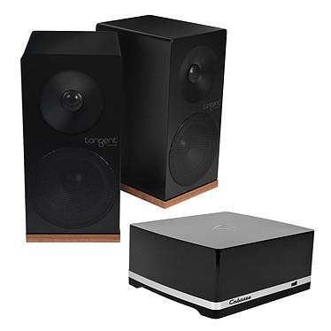 Cabasse Stream AMP 100 + Tangent Spectrum X5 Noir Amplificateur haute fidélité 2 x 50 W RMS avec Wi-Fi / Ethernet / NFC + Enceinte bibliothèque compacte (par paire)