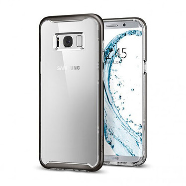 Spigen Case Neo Hybrid Crystal Gris Galaxy S8+ Coque de protection TPU et bumper polycarbonate pour Samsung Galaxy S8+