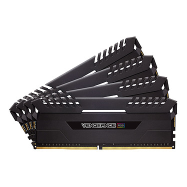 Corsair Vengeance RGB Series 64 Go (4x 16 Go) DDR4 3200 MHz CL16 Kit Quad Channel 4 barrettes de RAM DDR4 PC4-25600 - CMR64GX4M4C3200C16 (garantie à vie par Corsair)