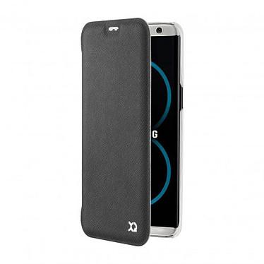 xqisit Etui Flap Cover Adour Noir Samsung Galaxy S8+