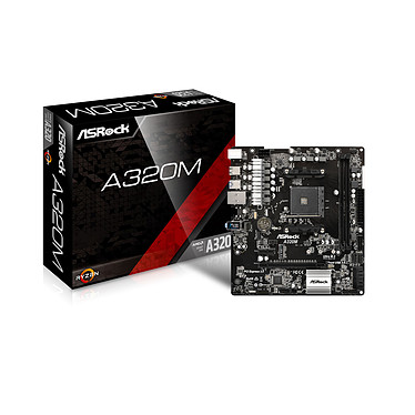 ASRock A320M Carte mère Micro ATX Socket AM4 AMD A320 - 2x DDR4 - SATA 6Gb/s + Ultra M.2 - USB 3.0 - 1x PCI-Express 3.0 16x - Bonne affaire (article utilisé, garantie 6 mois)