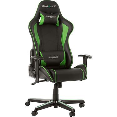 DXRacer Formula FL08 (vert) Siège en similicuir avec dossier inclinable à 135° et accoudoirs 1D pour gamer (jusqu'à 100 kg)