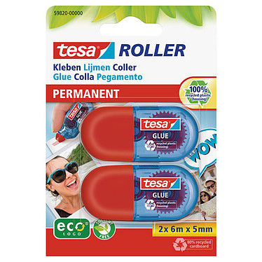 tesa Mini Roller Colle permanente ecoLogo x 2