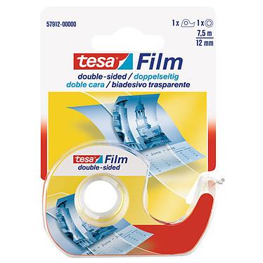 tesa tesafilm double-face - 1 rouleau + 1 dévidoir Adhésif double face avec 1 dévidoir - 7.5 m x 12 mm