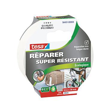 tesa Ruban de réparation écologique blanc Ruban de réparation extra résistant 10 m x 38 mm