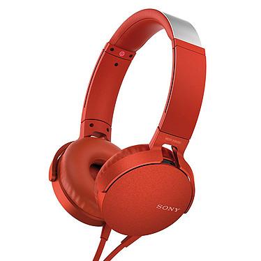 Sony MDR-XB550AP Rouge Casque supra-auriculaire fermé avec télécommande et micro