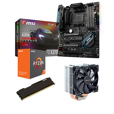 Kit Upgrade PC AMD Ryzen 7 1800X MSI X370 GAMING PRO CARBON 16 Go Carte mère ATX Socket AM4 AMD X370 + CPU AMD R7 1800X (3.6 GHz) + RAM 16 Go DDR4 + Ventilateur de processeur