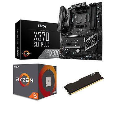 Kit Upgrade PC AMD Ryzen 5 1400 MSI X370 SLI PLUS 8 Go