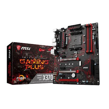 MSI X370 GAMING PLUS Carte mère ATX Socket AM4 AMD X370 - 4x DDR4 - SATA 6Gb/s + M.2 - USB 3.1 - 2x PCI-Express 3.0 16x - LED
