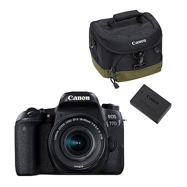 Canon EOS 77D + 18-55 IS STM + 100 EG + LP-E17