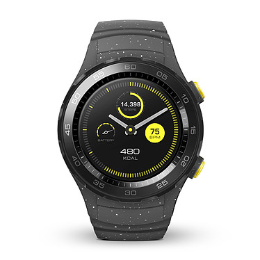 Huawei Watch 2 Sport Gris Montre connectée IP68 - Wi-Fi/Bluetooth/NFC - GPS - Cardio-fréquencemètre - Android Wear 2.0 - iOS/Android