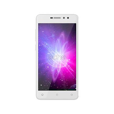 "Echo Stellar 4G Argent Smartphone 4G-LTE Dual SIM - MediaTek MT6737 Quad-core 1.3 GHz - RAM 1 Go - Ecran tactile 5"" 720 x 1280 - 16 Go - Bluetooth 4.0 - 2400 mAh - Android 7.0"
