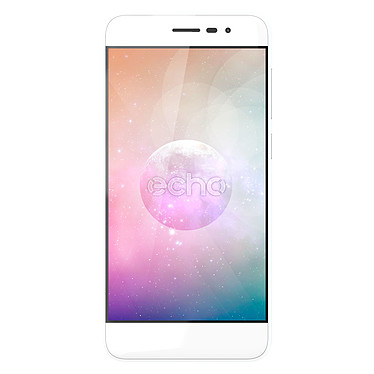 "Echo Moon Blanc Smartphone 4G-LTE Dual SIM - MediaTek MT6737 Quad-core 1.3 GHz - RAM 2 Go - Ecran tactile 4.7"" 720 x 1280 - 16 Go - Bluetooth 4.0 - 1800 mAh - Android 7.0"