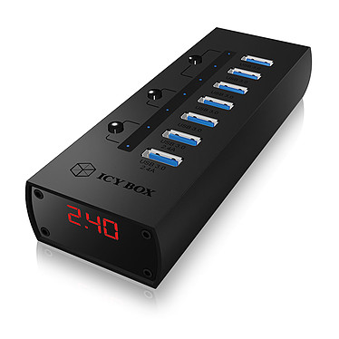 ICY BOX IB-AC6702 Hub 7 ports USB 3.0 dont 7 ports de charge (coloris noir)