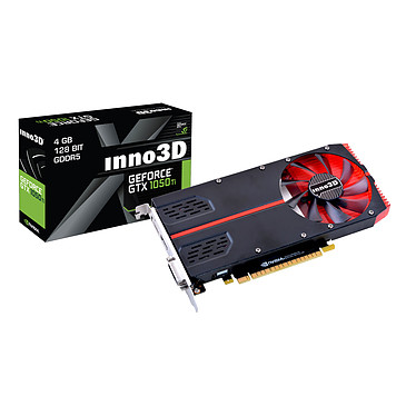 INNO3D GeForce GTX 1050 Ti 1-Slot Edition 4096 Mo DVI/HDMI/DisplayPort - PCI Express (NVIDIA GeForce avec CUDA GTX 1050 Ti)