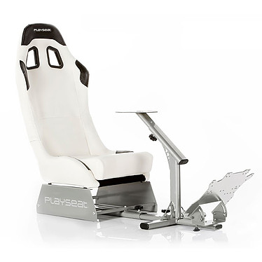 Playseat Evolution Blanc Siège baquet en similicuir avec supports de précision pour volant et pédalier
