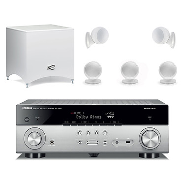 Yamaha MusicCast RX-A660 Titane + Cabasse Alcyone 2 Pack 5.1 Blanc