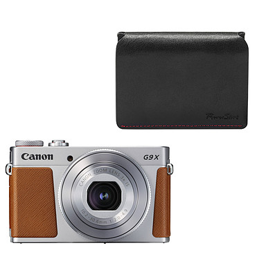 Canon PowerShot G9 X Mark II Argent + DCC-1890