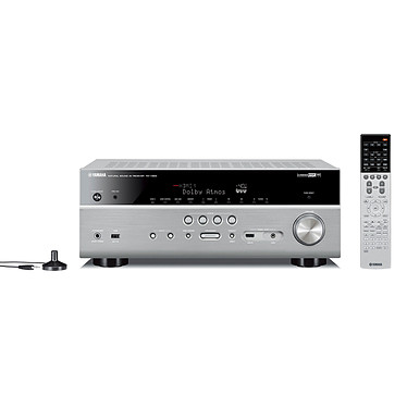 Yamaha MusicCast RX-V683 Titane Ampli-tuner Home Cinéma 7.2 3D 90 W avec Dolby Atmos, DTS:X, 6x HDMI 2.0, HDCP 2.2, Upscaling Ultra HD 4K, Wi-Fi, Bluetooth, AirPlay et MusicCast