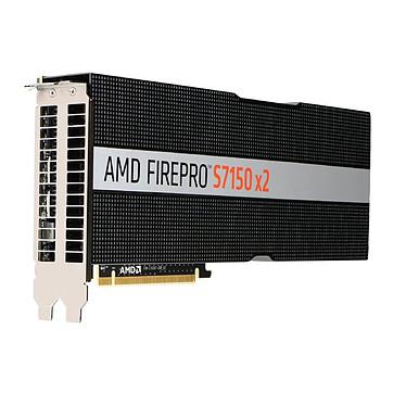AMD FirePro S7150x2 (100-505951) 16384 MB - PCI-Express 16x - Tarjeta gráfica de servidor - Active Cooling - Hasta 32 usuarios por GPU