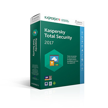 Kaspersky Total Security 2017 - Licence 2 postes 1 an