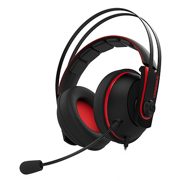 ASUS Cerberus V2 Rouge Casque-micro pour gamer (compatible PC / Mac / PlayStation 4 / Xbox One / Smartphone / Tablette)