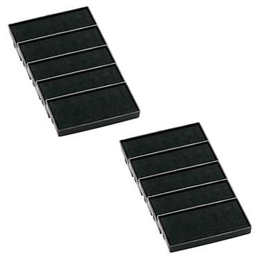 Trodat cassette d'encrage noire 6/4912 x 10 Lot de 10 cassettes d'encrage noire pour Printy 4912 - 4912T - 4952 - 4992 - X-PRINT