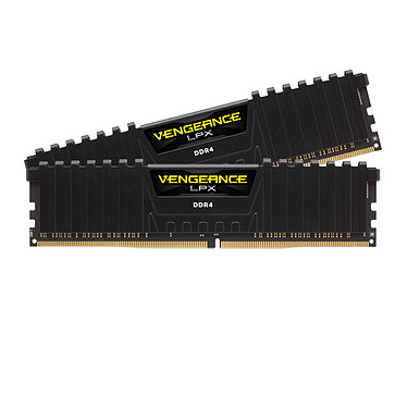 Corsair Vengeance LPX Series Low Profile 16 Go (2 x 8 Go) DDR4 3600 MHz CL18 Kit Dual Channel 2 barrettes de RAM DDR4 PC4-28800 - CMK16GX4M2D3600C18 (garantie à vie par Corsair)