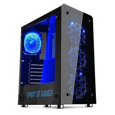 Spirit of Gamer Rogue IV (Bleu) Boîtier Moyen Tour Noir et Bleu avec fenêtre en verre trempé