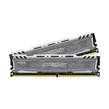 Ballistix Sport LT 16 Go (2 x 8 Go) DDR4 2666 MHz CL16 Kit Dual Channel RAM DDR4 PC4-21300 - BLS2C8G4D26BFSBK (garantie à vie par Crucial)