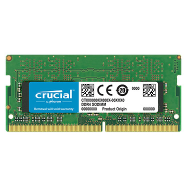 Crucial SO-DIMM DDR4 16 Go 2666 MHz CL19 Dual Rank X8 RAM DDR4 PC4-21300 - CT16G4SFD8266