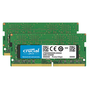 Crucial SO-DIMM DDR4 32 Go (2 x 16 Go) 2666 MHz CL19 Dual Rank X8 Kit Dual Channel RAM DDR4 PC4-21300 - CT2K16G4SFD8266 (garantie 10 ans par Crucial)