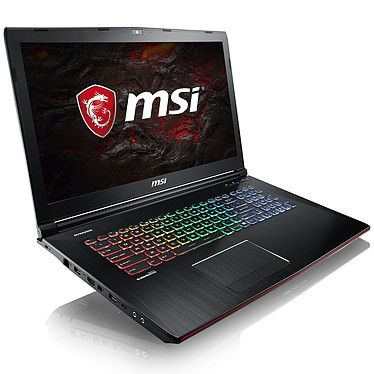 "MSI GE72MVR 7RG-055FR Apache Pro Intel Core i7-7700HQ 8 Go SSD 256 Go + HDD 1 To 17.3"" LED Full HD NVIDIA GeForce GTX 1070 8 Go Wi-Fi AC/Bluetooth Webcam Windows 10 Famille 64 bits (garantie constructeur 2 ans)"