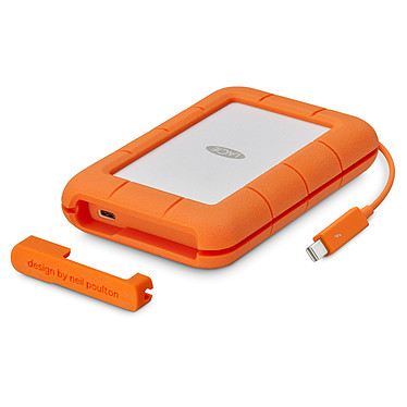 LaCie Rugged Thunderbolt USB-C SSD 500 Go Disque dur externe antichoc 2.5'' - USB-C/Thunderbolt (garantie constructeur 3 ans)