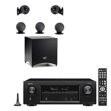 Denon AVR-X1400H Noir + Cabasse Alcyone 2 Pack 5.1 Noir Ampli-tuner Home Cinema 3D Ready 7.2 AirPlay avec 6 entrées HDMI 4K Ultra HD, HDCP 2.2, HDR, Wi-Fi, Bluetooth, Multiroom, Dolby Atmos et DTS:X + Ensemble 5.1