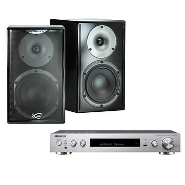 Pioneer SX-S30DAB Argent + Cabasse Surf Noir Amplificateur stéréo intégré 2 x 85 W - MCACC - Bluetooth - Wi-Fi - DLNA - HDMI ARC - FireConnect - Tuner FM/DAB - Hi-Res Audio - AirPlay - Google Cast + Enceinte bibliothèque (par paire)