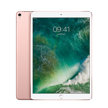 "Apple iPad Pro (2017) 10.5 pouces 64 Go Wi-Fi + Cellular Or Rose Tablette Internet 4G-LTE - Apple A10X 64 bits 4 Go eMMC 64 Go 10.5"" LED tactile Wi-Fi AC / Bluetooth Webcam iOS 10"