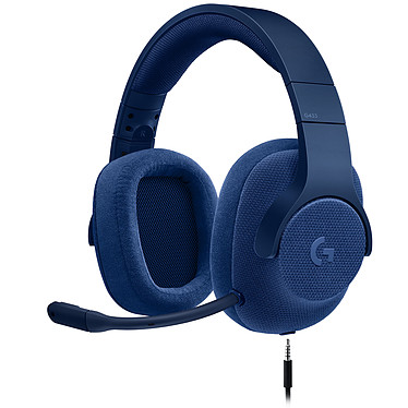 Logitech G433 7.1 Surround Sound Wired Gaming Headset Bleu Casque-micro 7.1 filaire pour gamer (compatible PC, Xbox One, PS4, Switch)