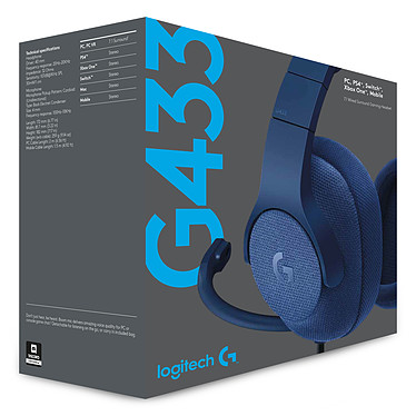 Acheter Logitech G433 7.1 Surround Sound Wired Gaming Headset Bleu