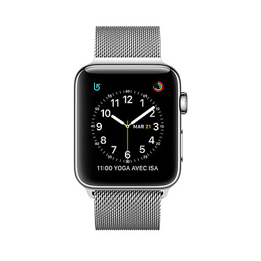 Apple Watch Series 2 Acier Argent Milanais 38 mm