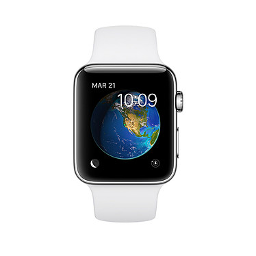 Apple Watch Series 2 Acier Sport Blanc 38 mm