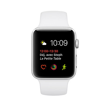 Apple Watch Series 2 Aluminium Argent Sport Blanc 38 mm