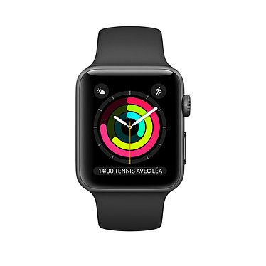 Apple Watch Series 2 Aluminium Gris Sport Noir 38 mm