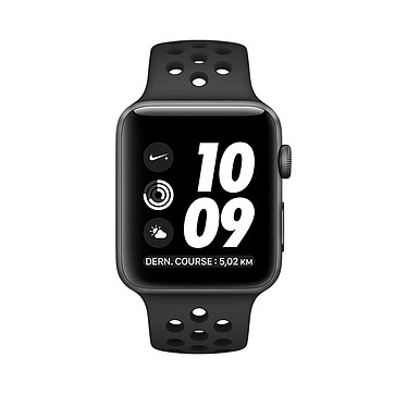 Apple Watch Nike+ Series 2 Aluminium Gris Sport Noir 38 mm