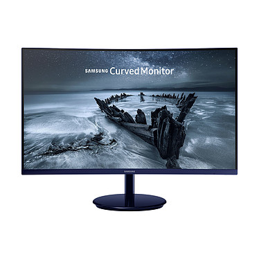 "Samsung 27"" LED - C27H580F 1920 x 1080 pixels - 4 ms - Format large 16/9 - Dalle VA incurvée - Displayport - HDMI - Noir"