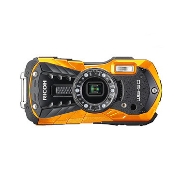 Ricoh WG-50 Orange Appareil photo baroudeur 16 MP - Zoom optique grand-angle 5x - Vidéo Full HD