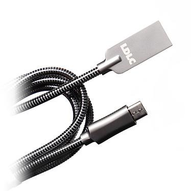 LDLC Câble Métal MU USB/Micro-USB - 1 m Câble data/charge pour Android et appareils compatibles